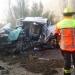 Fallece conductor de camioneta que colisionó con bus en la ruta internacional hoy en la mañana