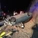 Conductor y pasajera lesionados al volcar automóvil de la aplicación Uber